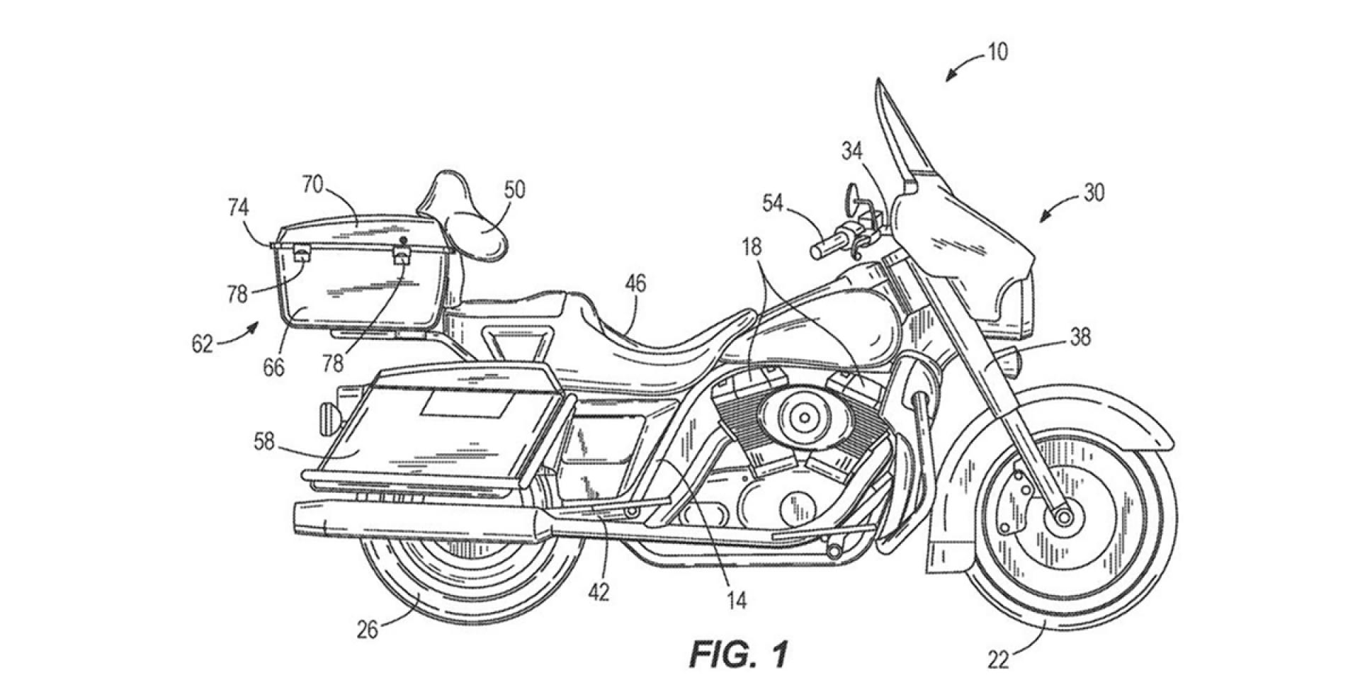 讓倒車不再成為你的惡夢!Harley-Davidson申請自動平衡系統專利!