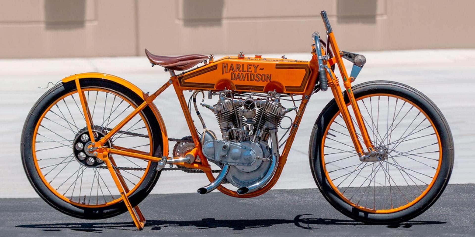 沒煞車、沒避震的超狂阿祖級賽車。1915 HARLEY-DAVIDSON 11K