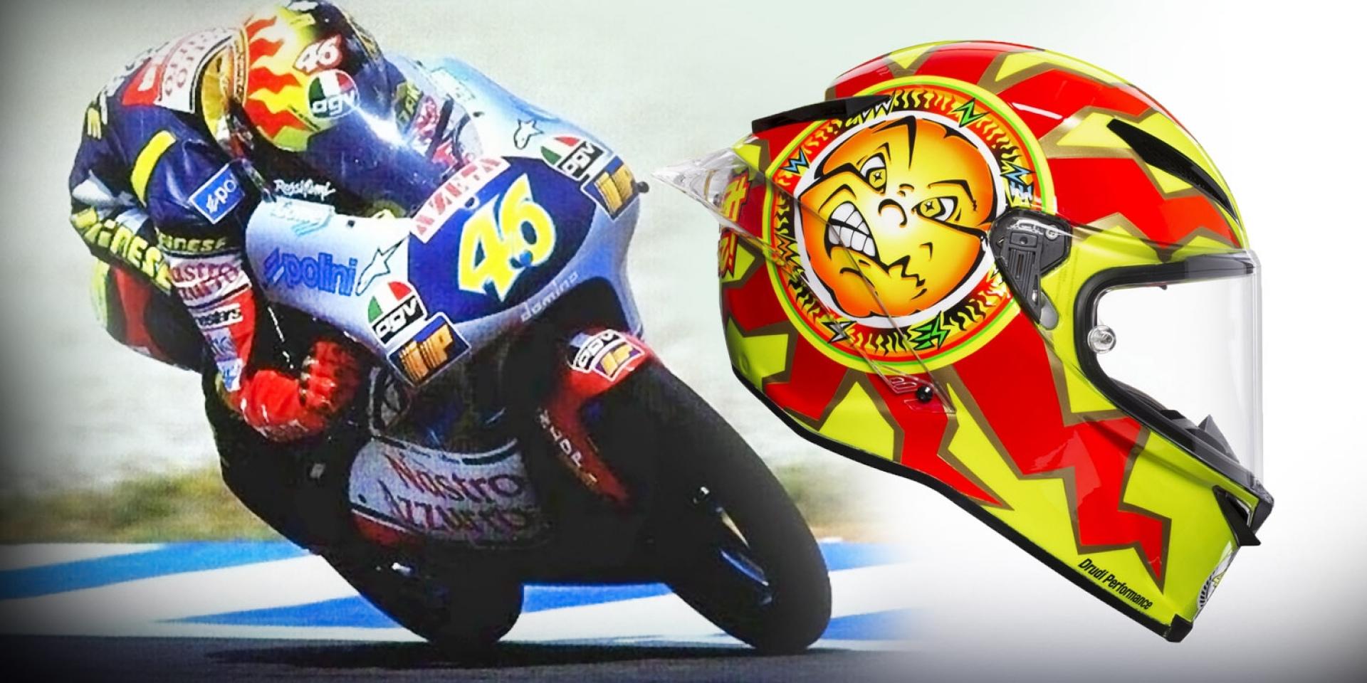 經典塗裝重現。AGV發表Rossi 20週年限量紀念帽