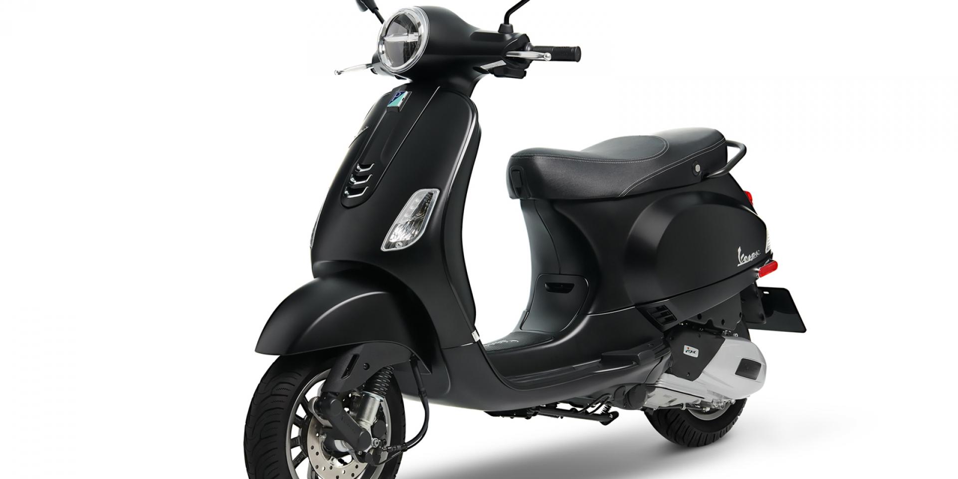 官方新聞稿。Vespa台灣獨家限定特仕版LX 125 i-get FL Matt Black黑色時尚 由你引領