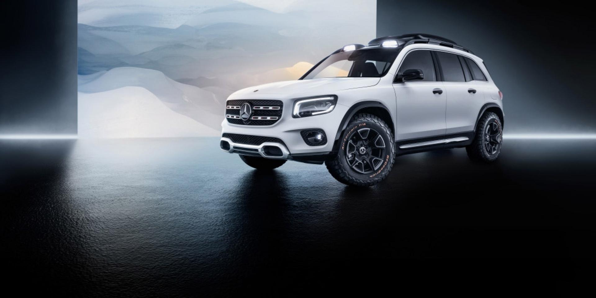 粗獷、方正7人座三芒星,Mercedes-Benz Concept GLB上海車展亮相