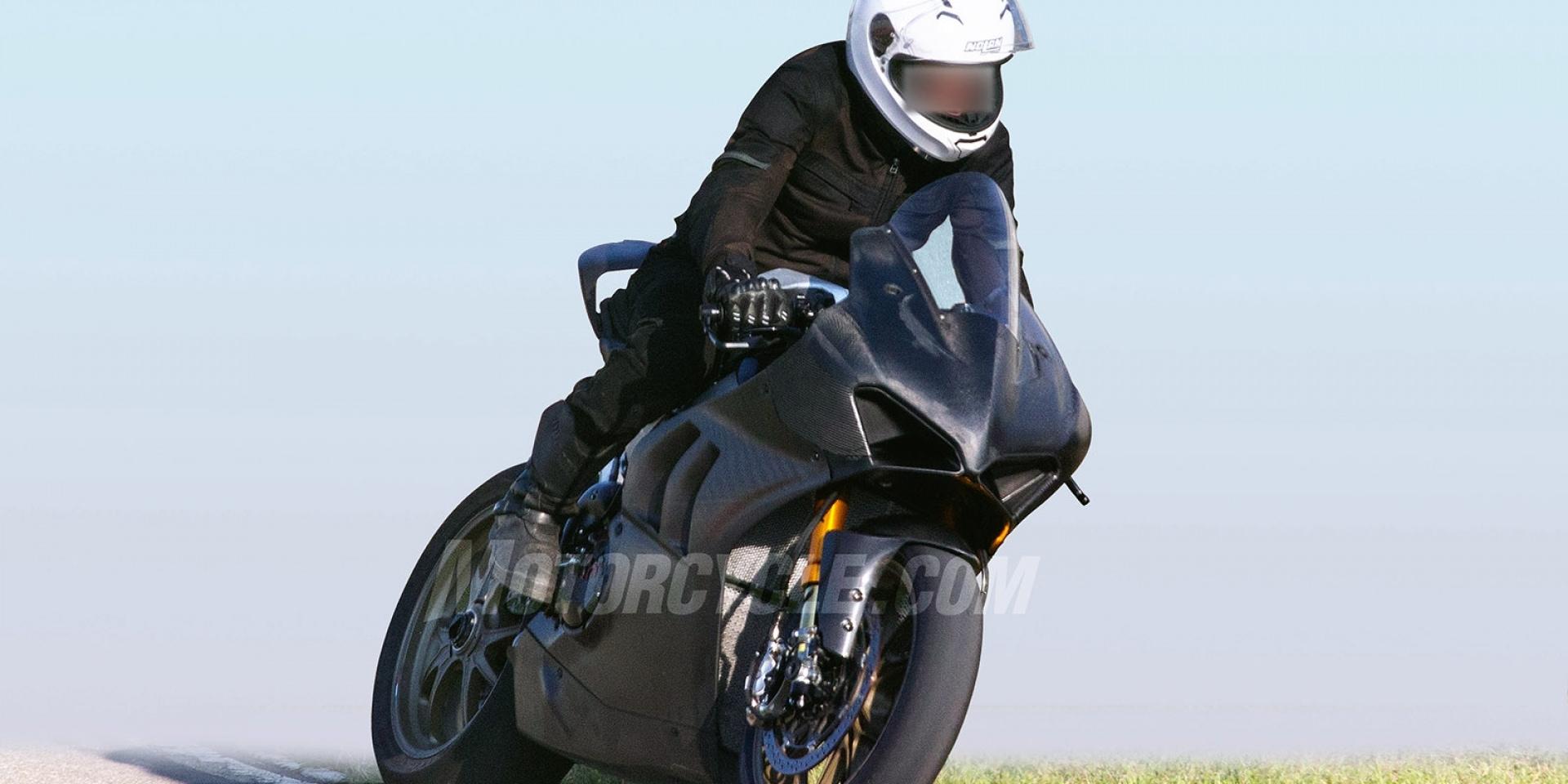 WSBK V4引擎來襲,Ducati Panigale V4 R測試中
