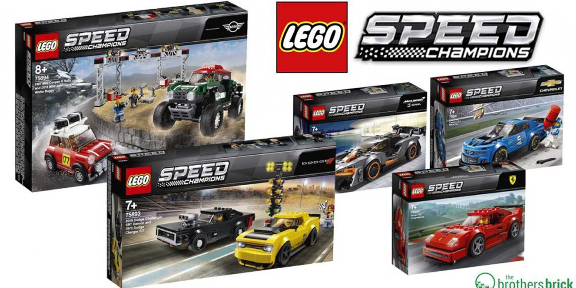 LEGO 2019 Speed Champions新車發表。McLaren Senna、Ferrari F40經典上市