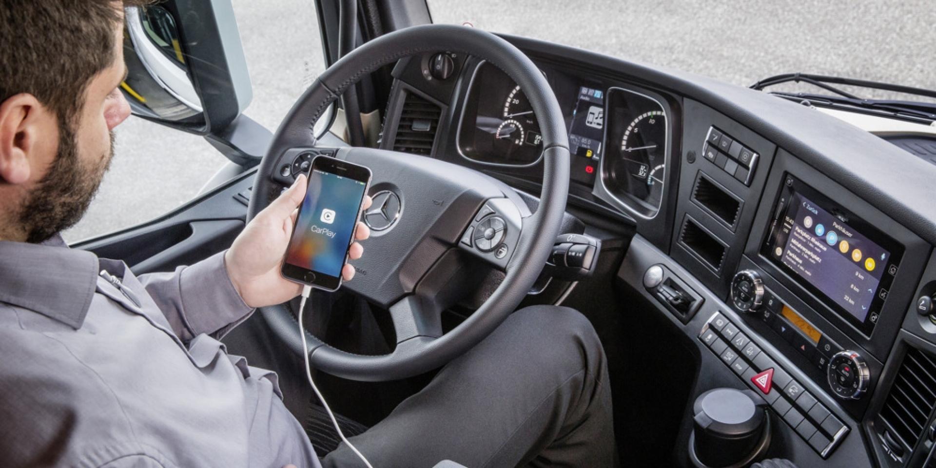 科技始終來自於人性 M-Benz Trucks導入智能手機影音系統