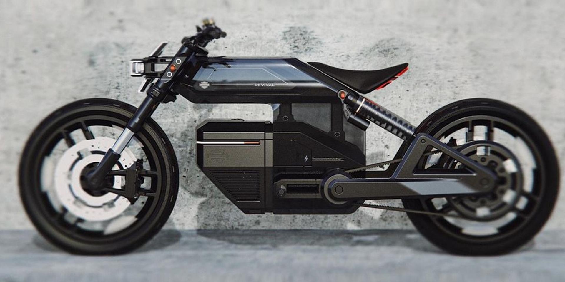想像中的哈雷入門電動車款!極簡Harley-Davidson Revival出現!