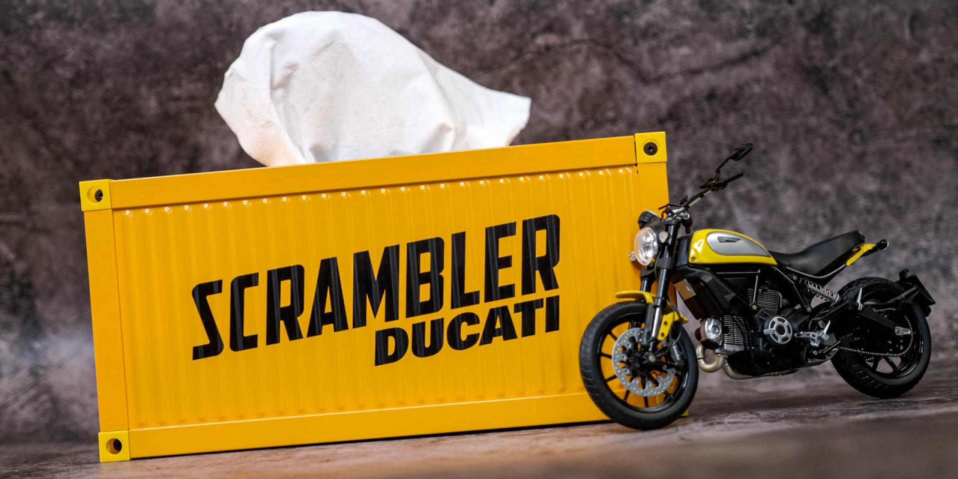 開箱啦 ! Ducati Scrambler 貨櫃面紙盒 集點只送不賣