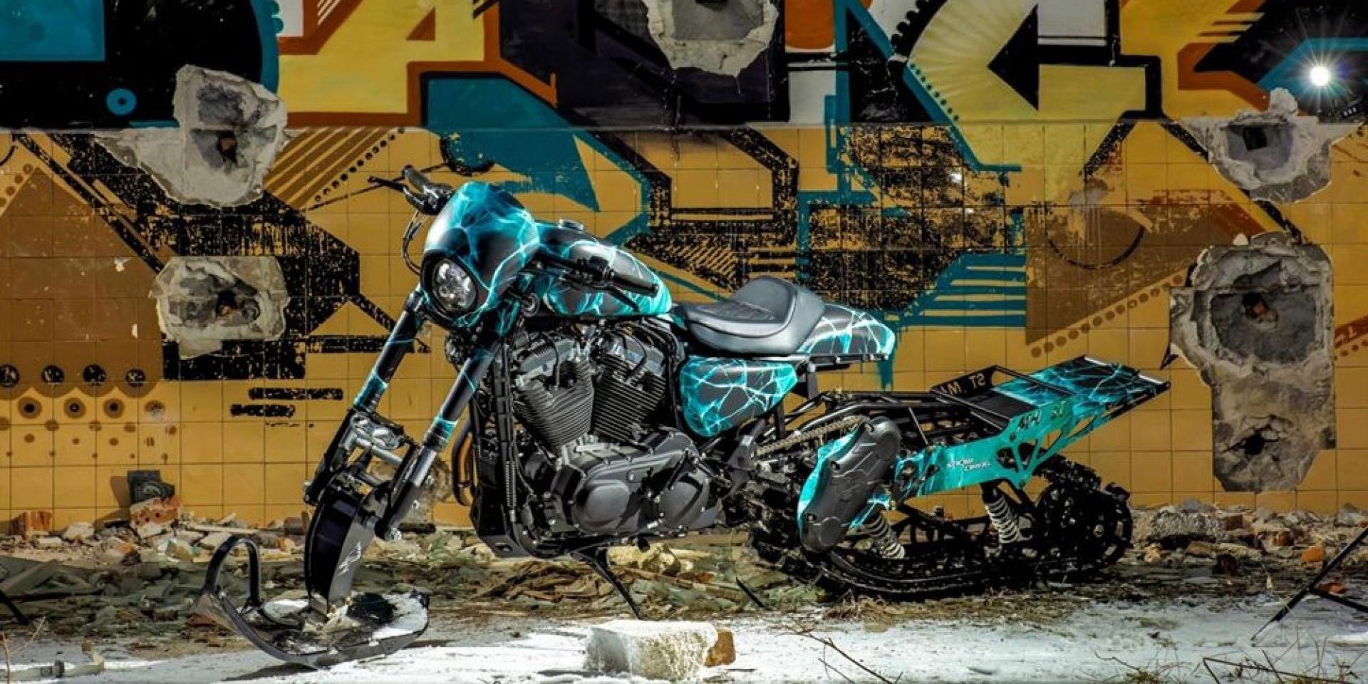 沒有一台哈雷是一樣的!Harley-Davidson XL1200 CX雪上特裝