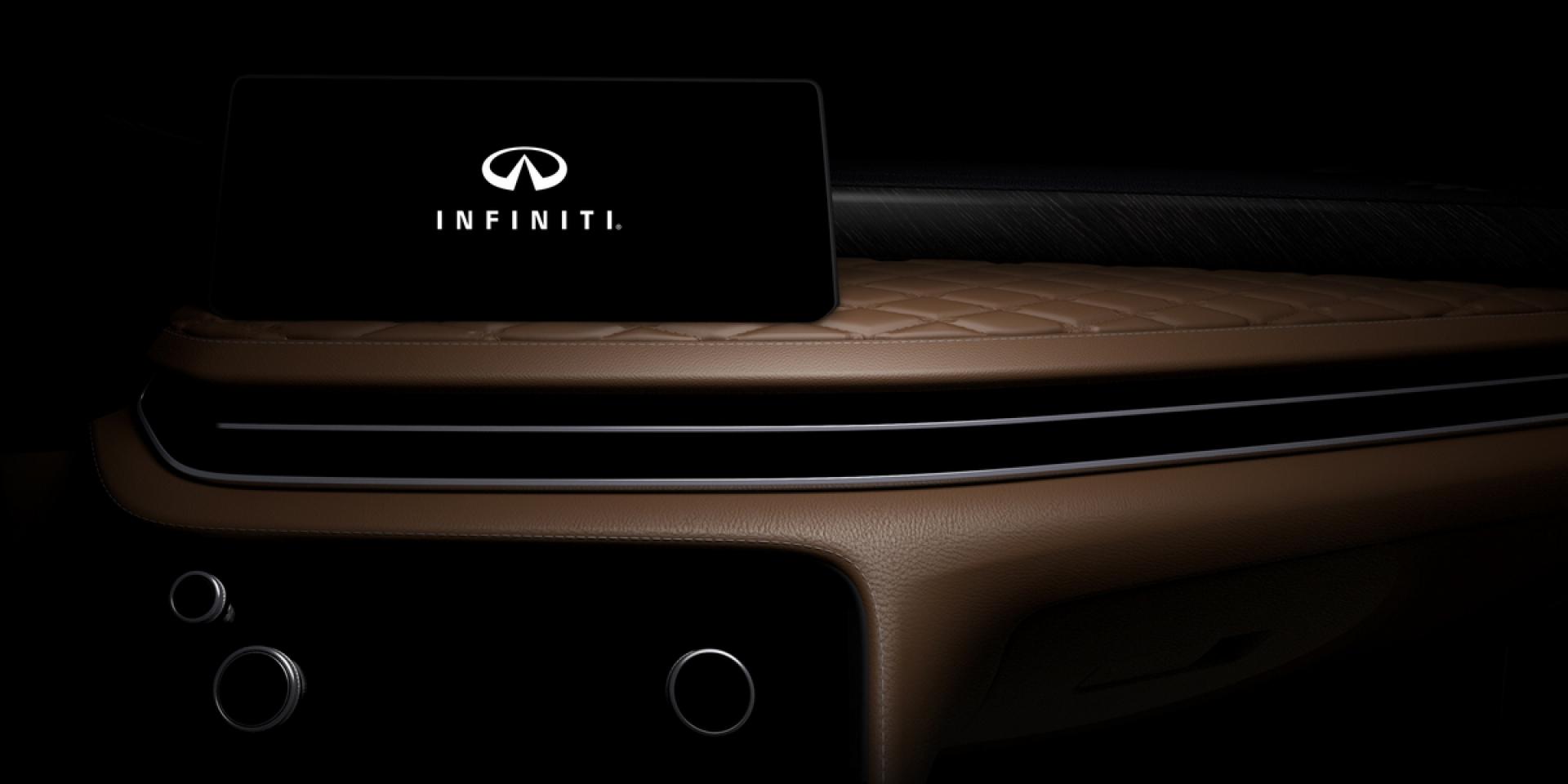 比雙螢幕更吸睛!Infiniti釋出大改款QX60內裝預告