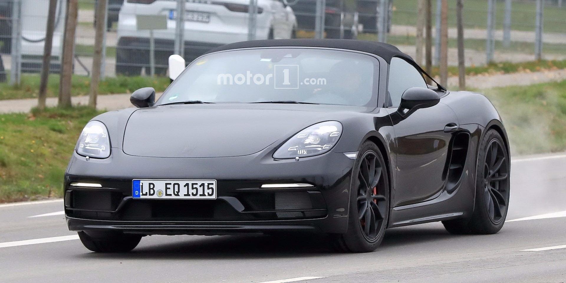 PORSCHE入門Boxster置入911 GT3引擎!718 Boxster Spyder街頭捕捉