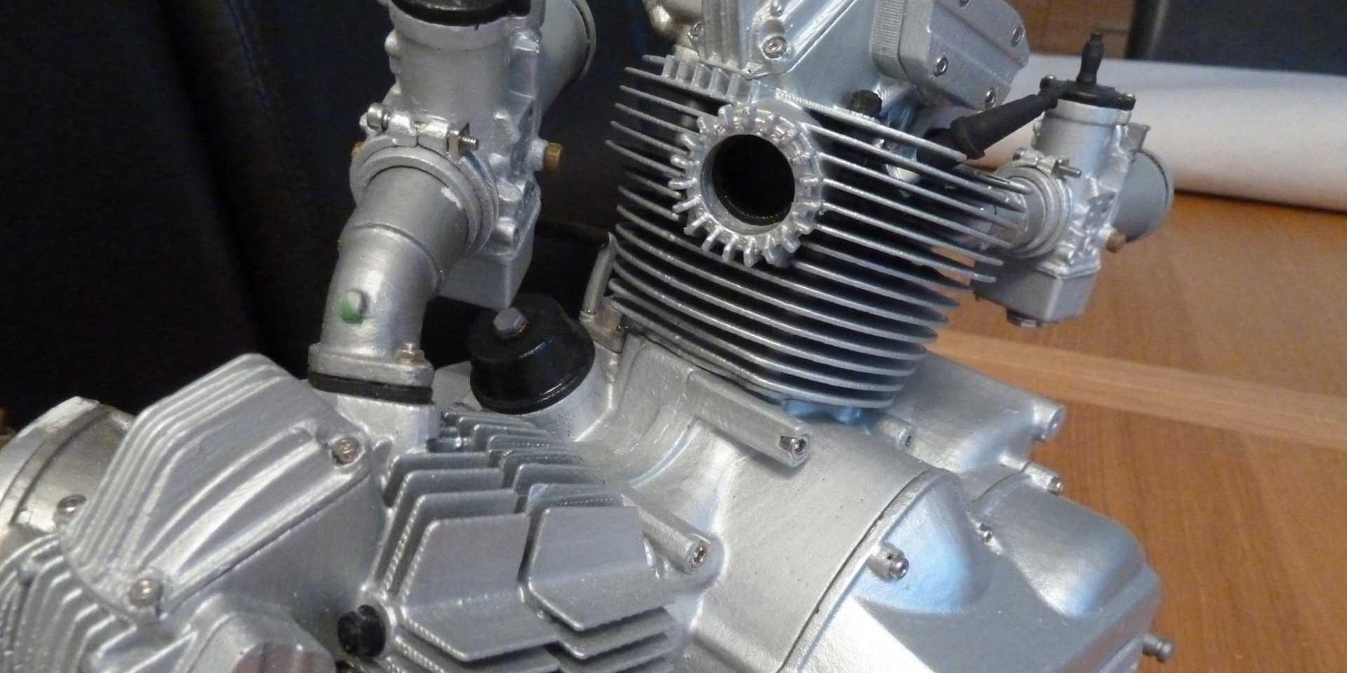 依照原始設計圖手工製作!Moto-Miniatures DUCATI L-Twin雙缸引擎模型
