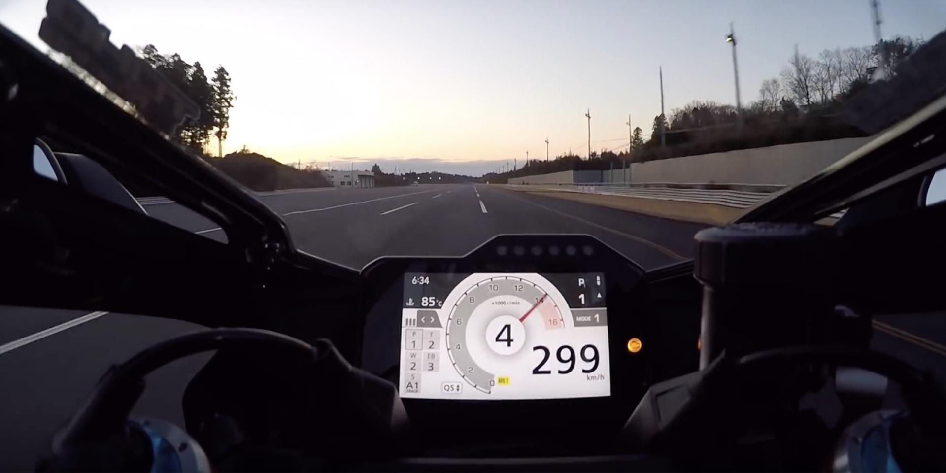 四檔時速299爆表!HONDA CBR1000RR-R賽道測試影片曝光
