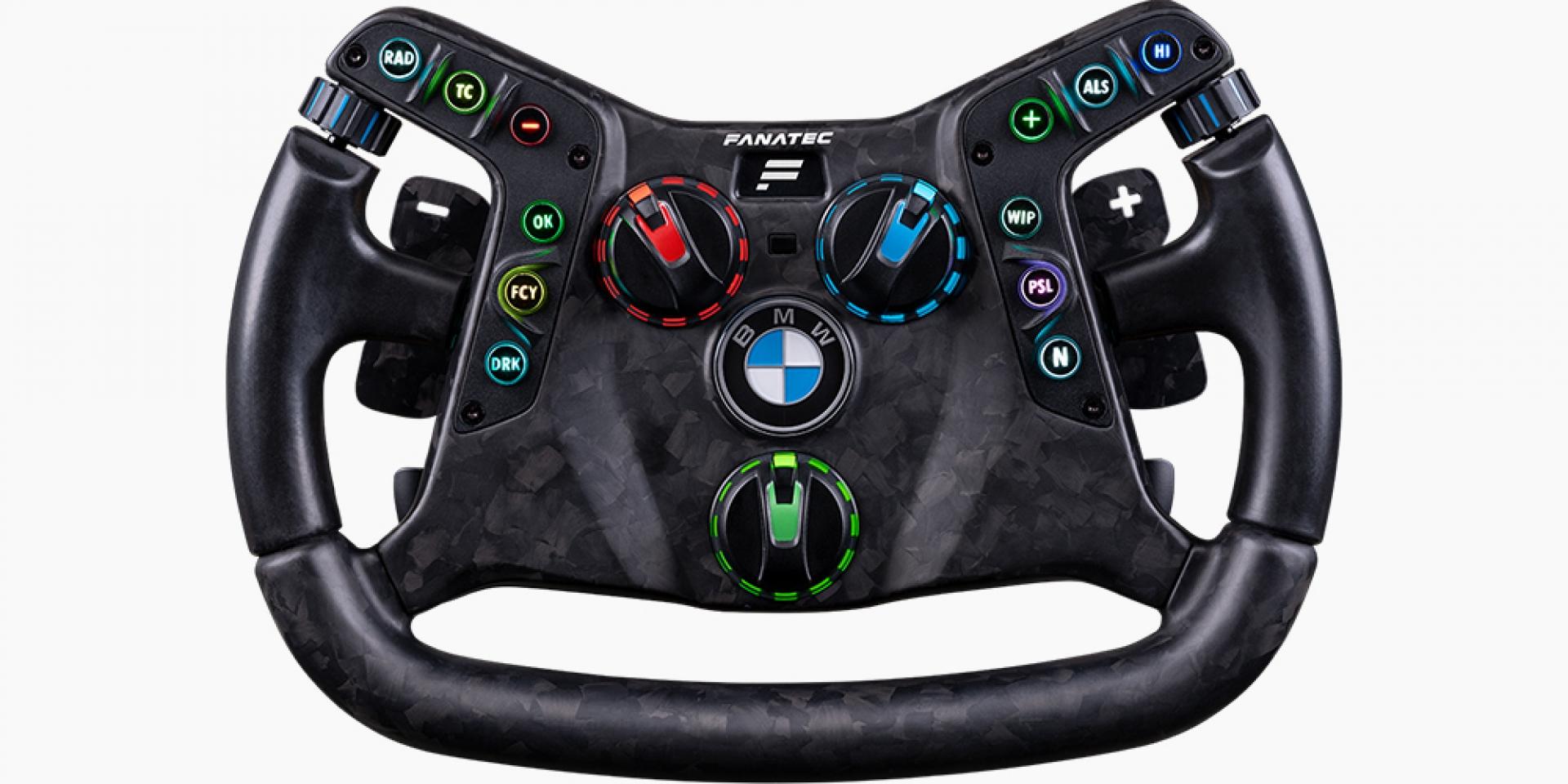 在家也能開M4 GT3? 碳纖維遊戲方向盤釋出
