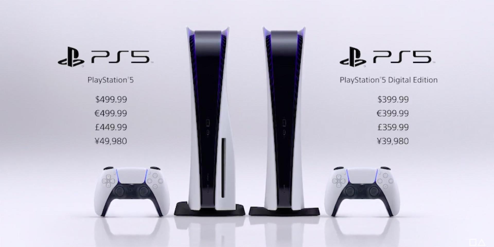 數位版399鎂、光碟機版499鎂,SONY PS5售價出爐、11月12日上市!