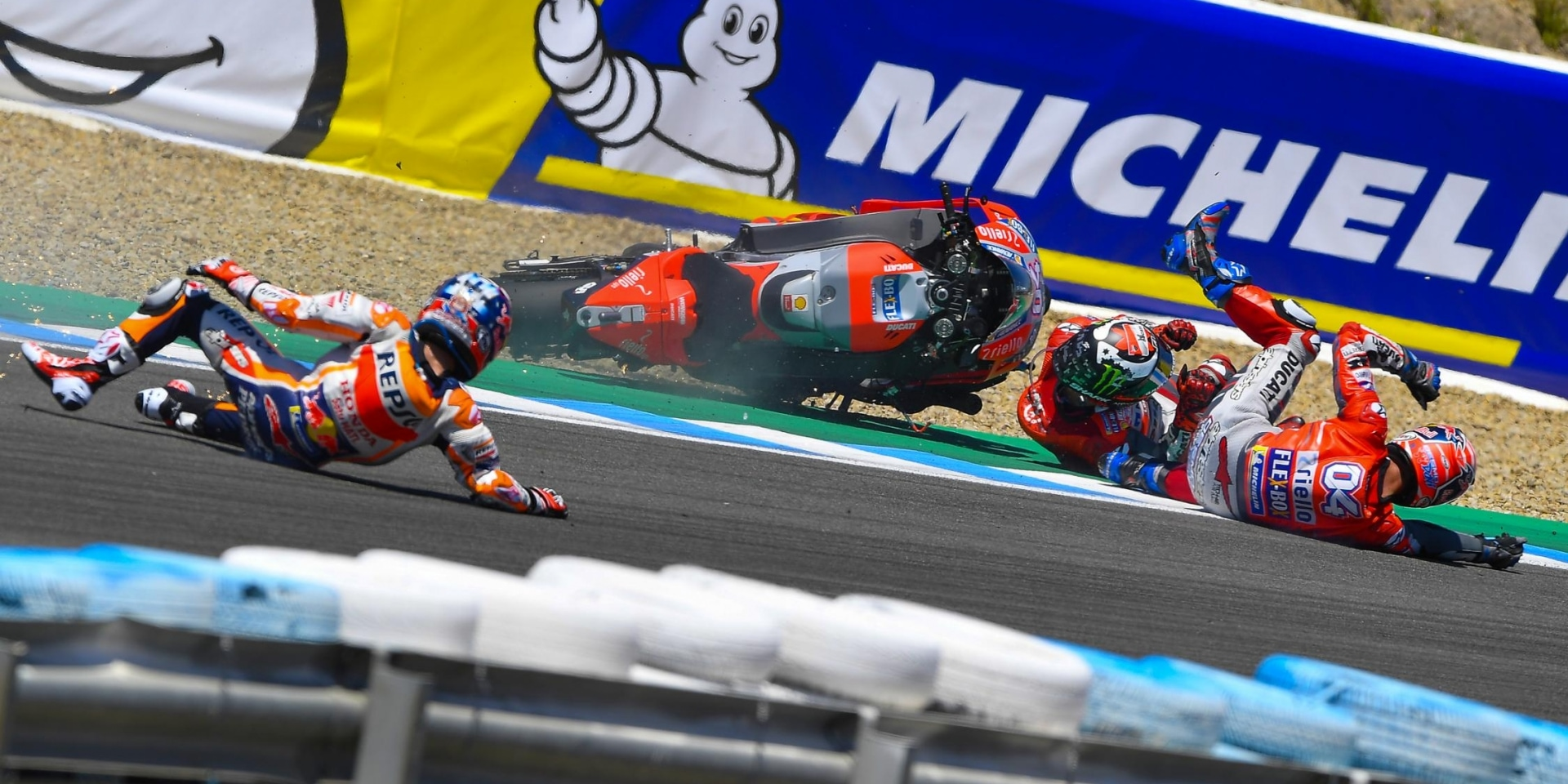 Jerez意外三連撞!Pedrosa、Lorenzo、Dovizioso:沒有誰對誰錯
