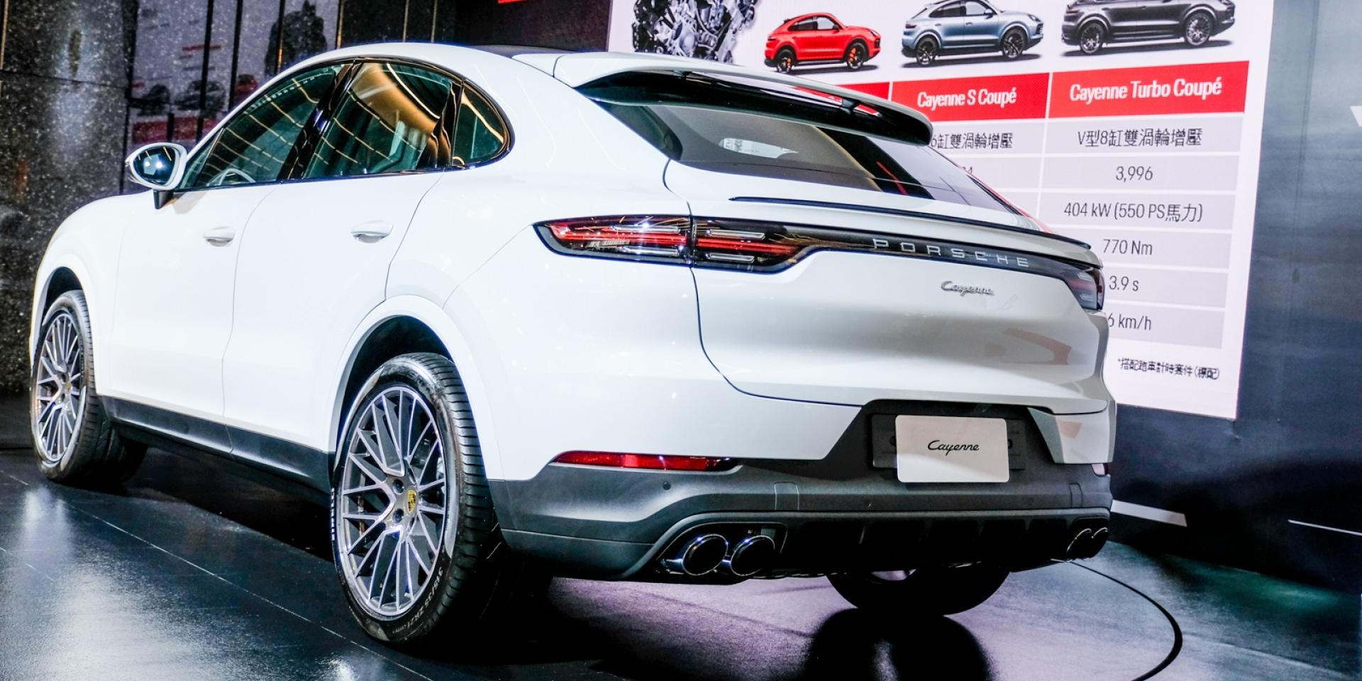 流線、實用兩者兼具,Porsche Cayenne Coupé台灣上市