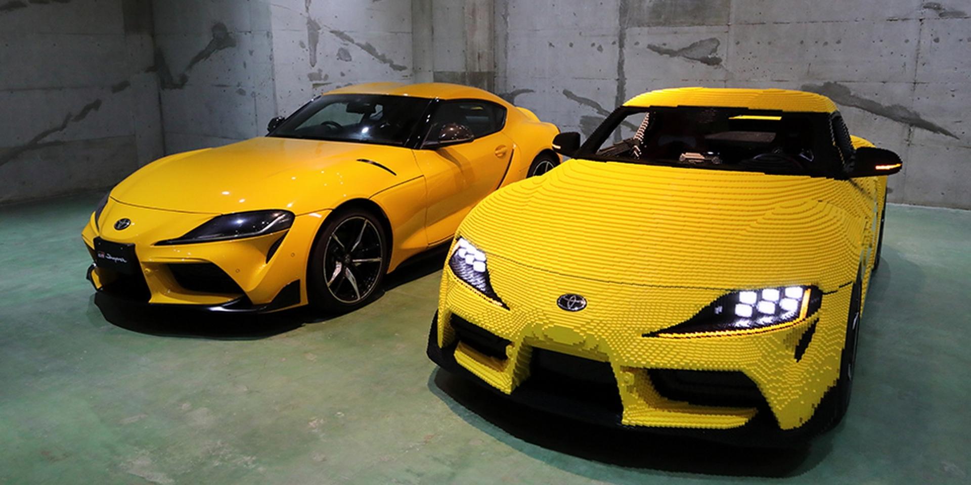 Lego與Toyota聯手打造電動Supra 極速只有25km/h