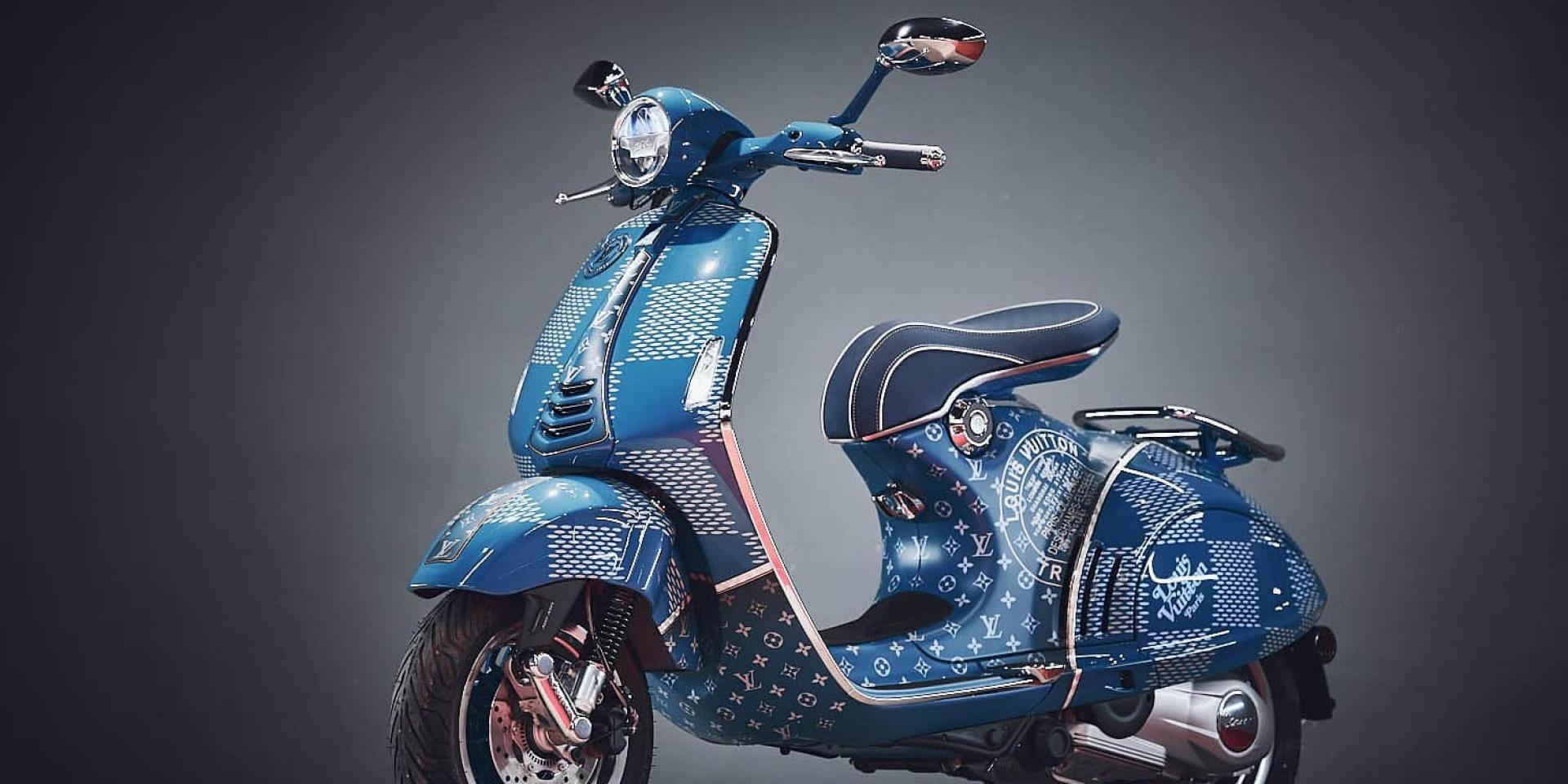 高調、奢華!Vespa 946 Louis Vuitton特別版本