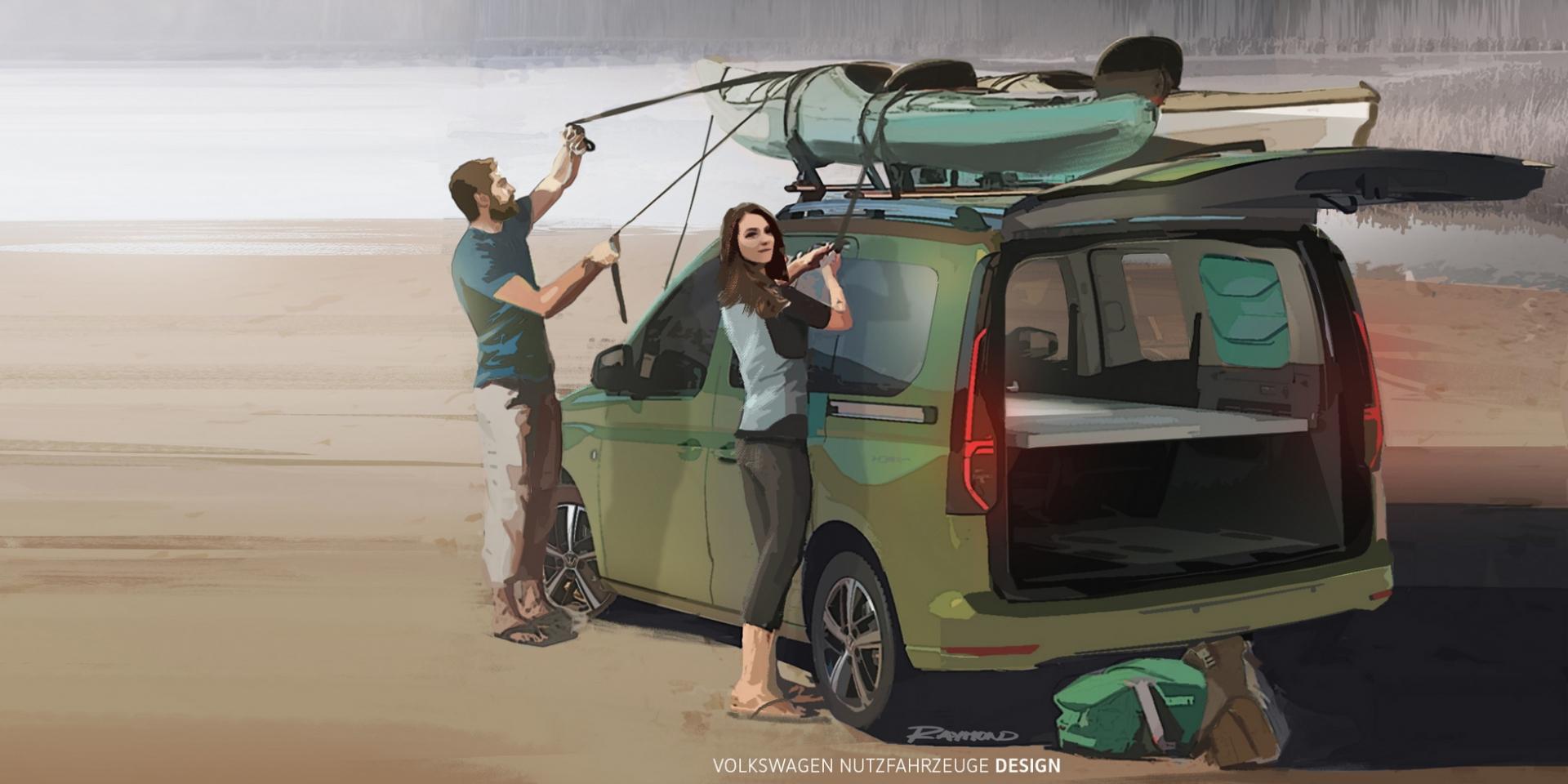 露營車大集合!Volkswagen Caddy露營車將於9月發表!