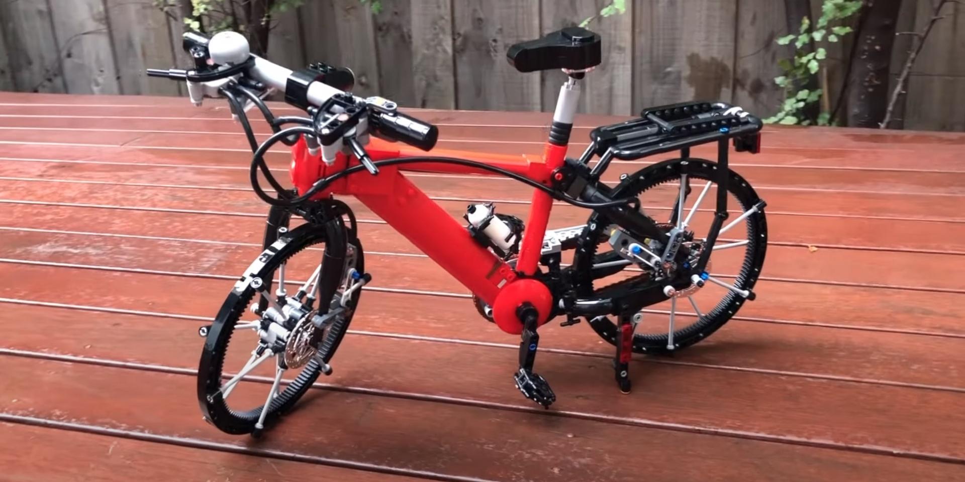想要腳踏車就自己組!999個樂高方塊就可變成真的可騎乘的單車!