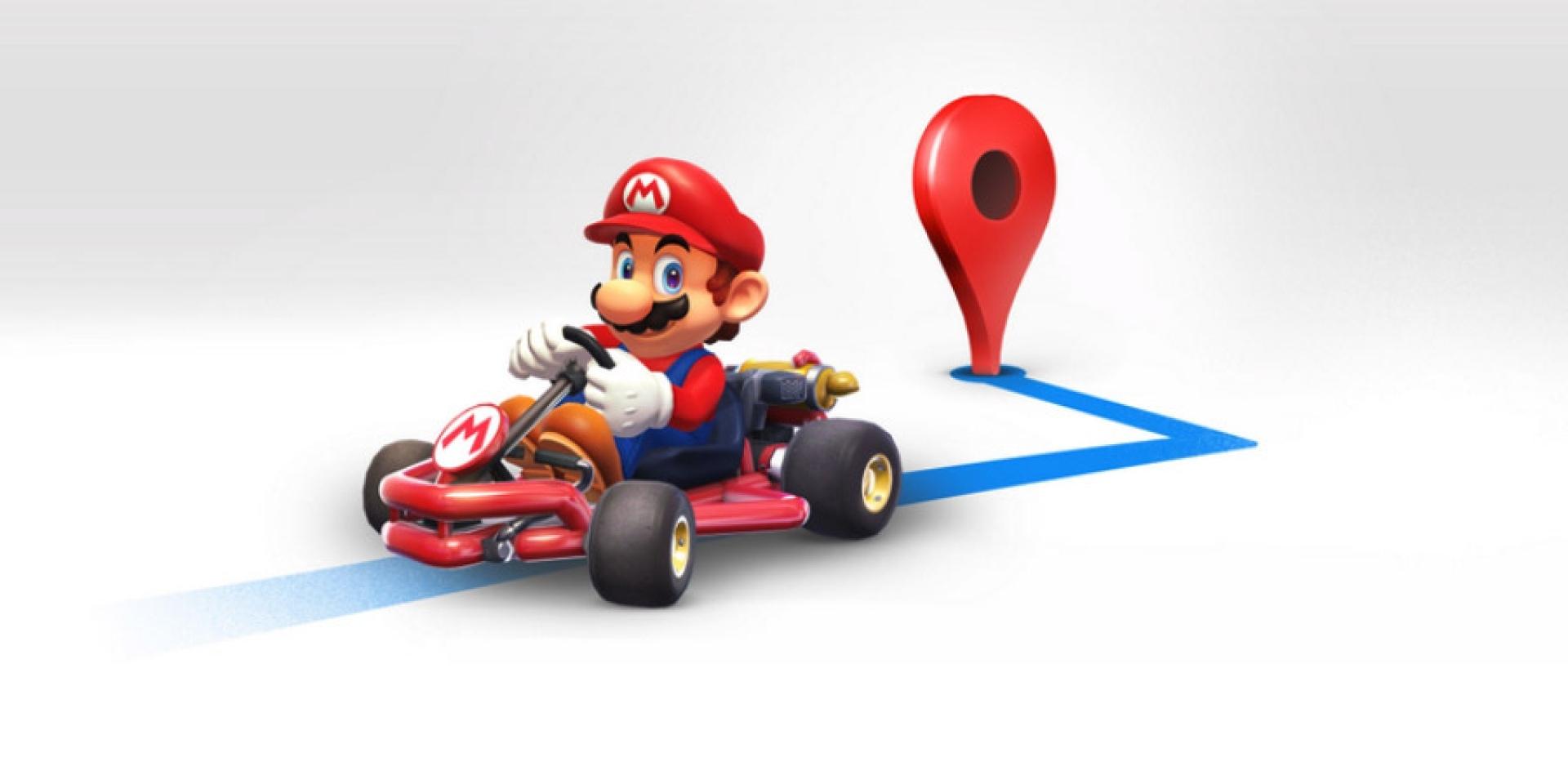 讓馬力歐陪你一起出遊去,GOOGLE MAP馬力歐賽車彩蛋