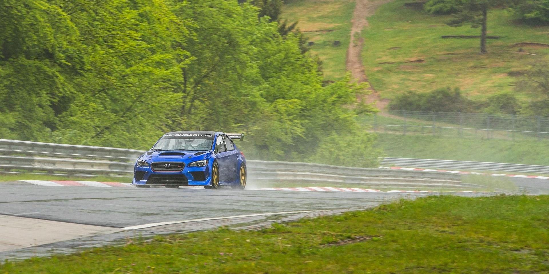 再寫最速四門房車記錄,Subaru WRX STI雨天跑出紐柏林最速