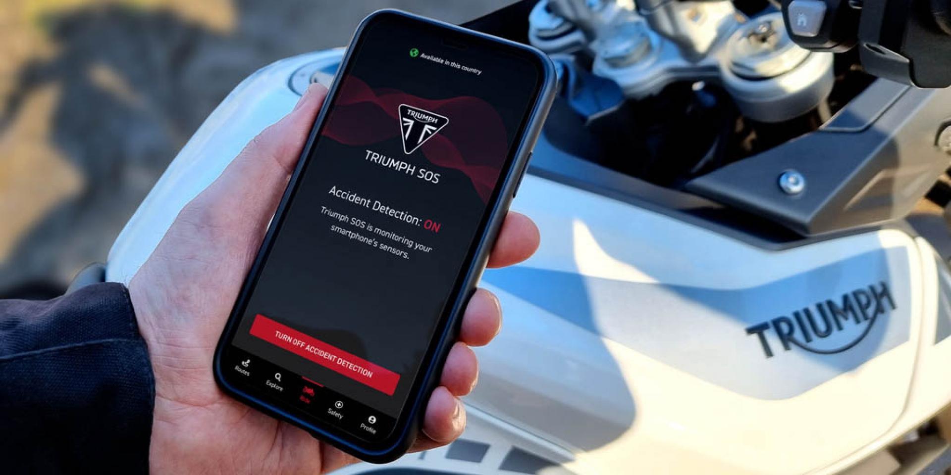 結合人手一機隨時可用,Triumph SOS App發表