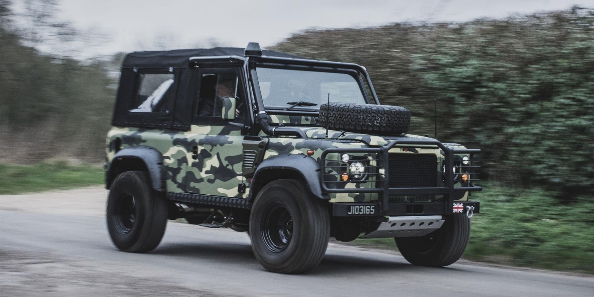 Tweaked Automotive重度改造,Land Rover Defender軍裝特仕版
