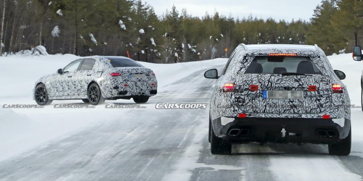 性能車型緊接而來!Mercedes-AMG C63、C63 Wagon偽裝車首次捕捉!