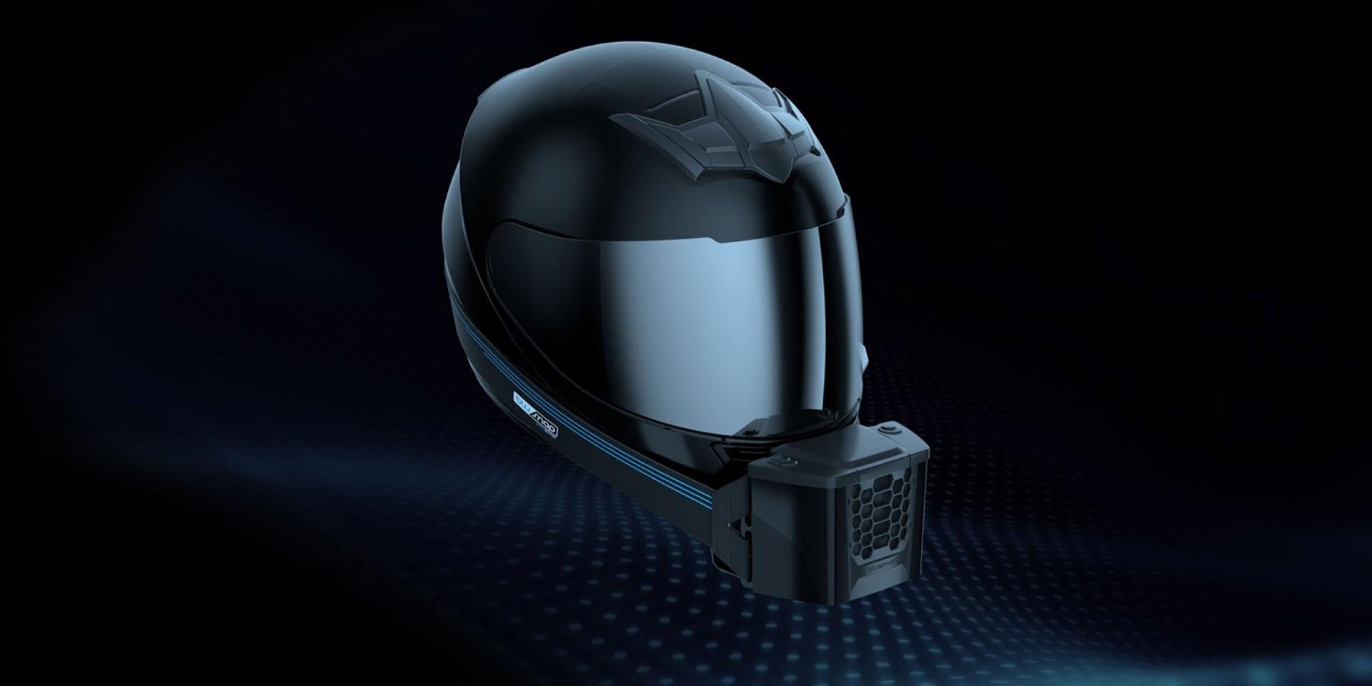 消暑利器。BluSnap安全帽通風系統