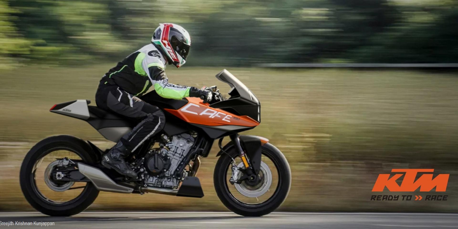 直二公爵喝咖啡。KTM 790「Cafe Racer Concept」by.Sreejith Krishnan Kunjappan