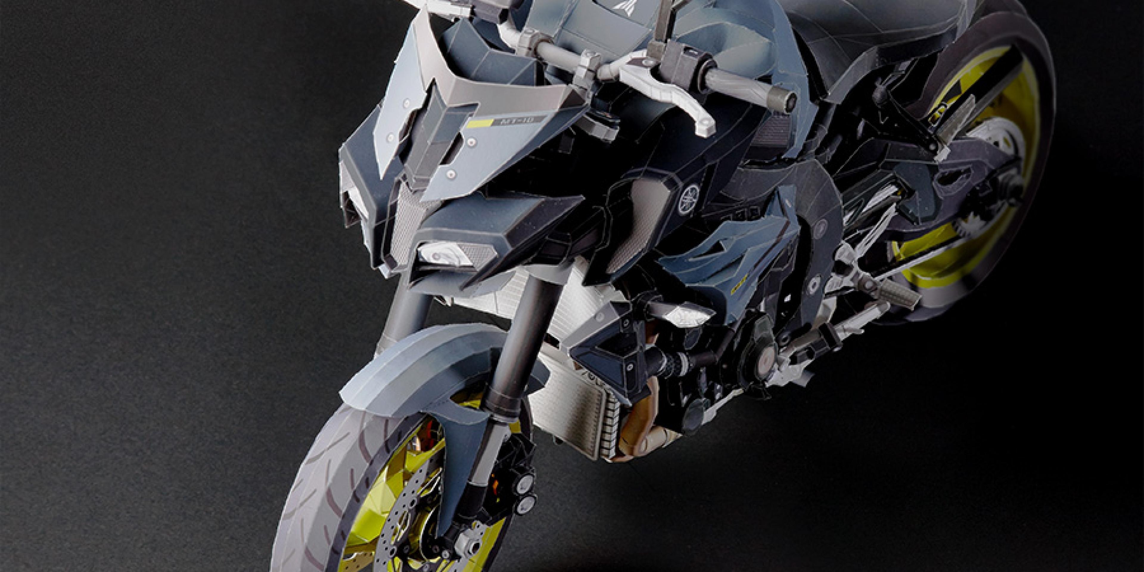 機械惡獸躍然紙上。YAMAHA MT-10 紙模型