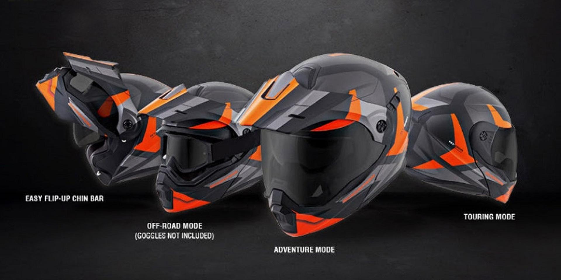 三種願望一次滿足。 Scorpion推出模組化安全帽
