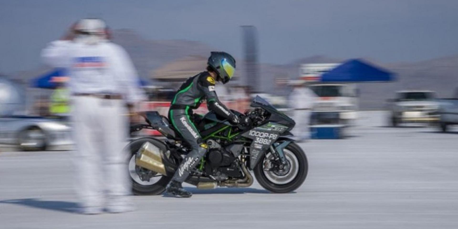 336公里Bonneville鹽灘認證最速量產車。Kawasaki H2寫下世界紀錄