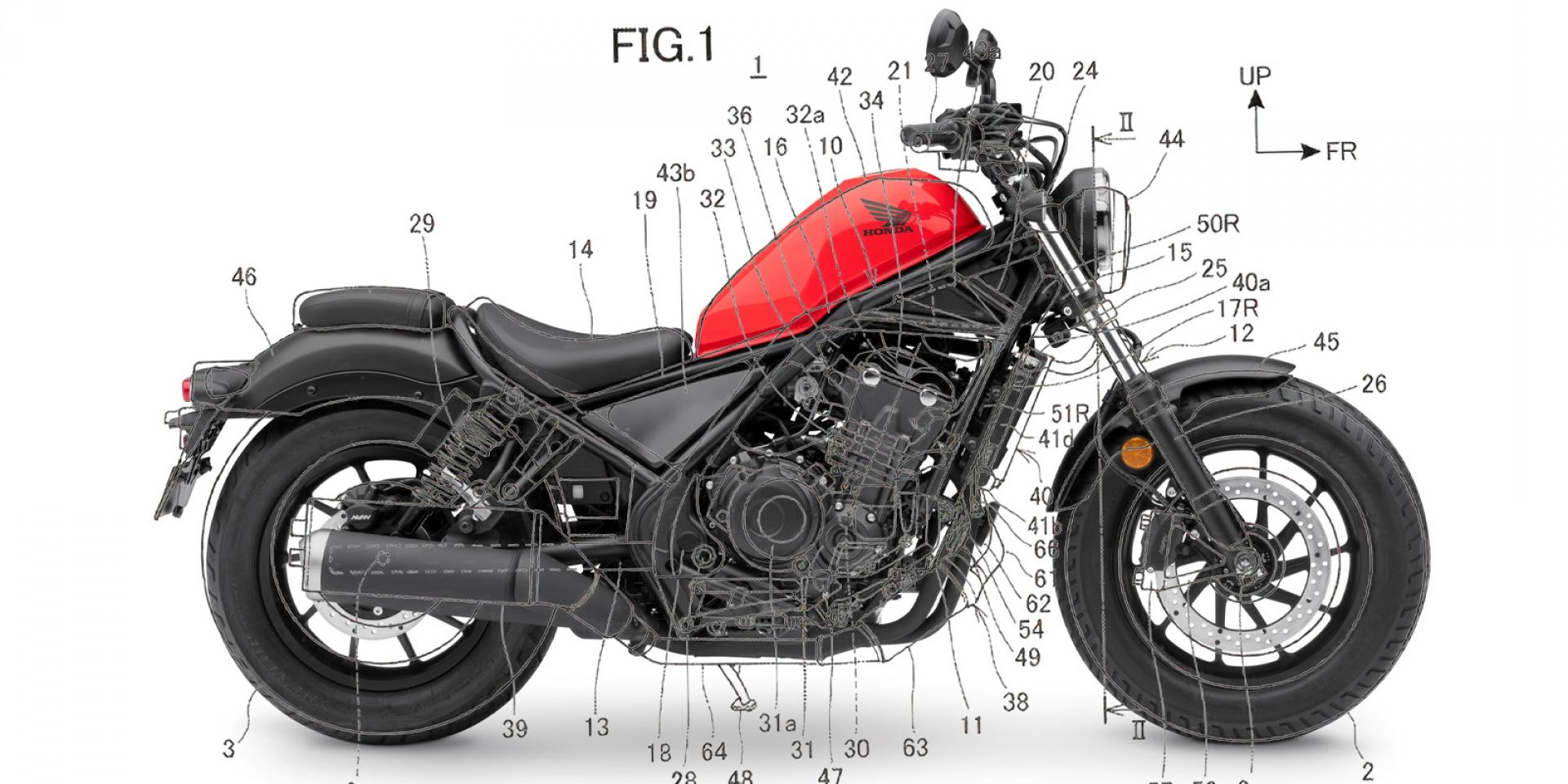 HONDA Rebel 1100準備登場?與AFRICA TWIN共構引擎專利現身!