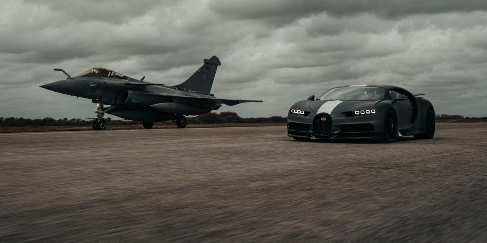Bugatti Chiron Sport限量版再度對決戰鬥機!1500匹 VS 5700匹