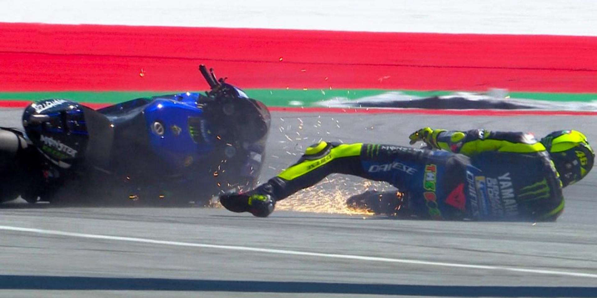 騎著M1來,坐著勁戰走。Valentino Rossi:如果沒有摔車,也許我有機會拿下勝利!