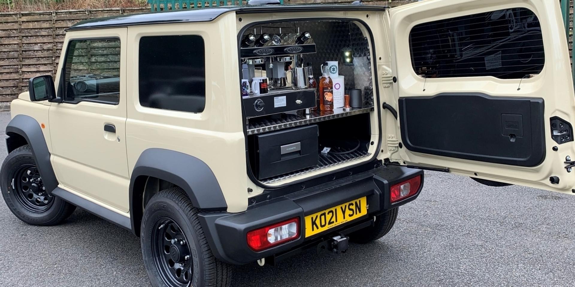 這是台有味道的車!Suzuki 改了一台Jimny Beans專屬咖啡車