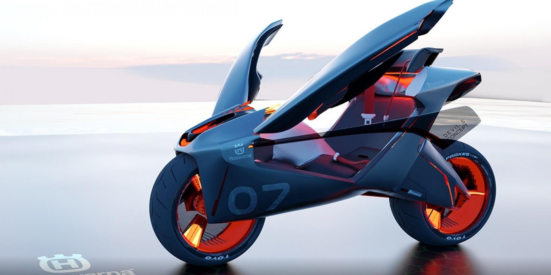 結合昆蟲概念 Husqvarna Devils S超帥概念車更安全