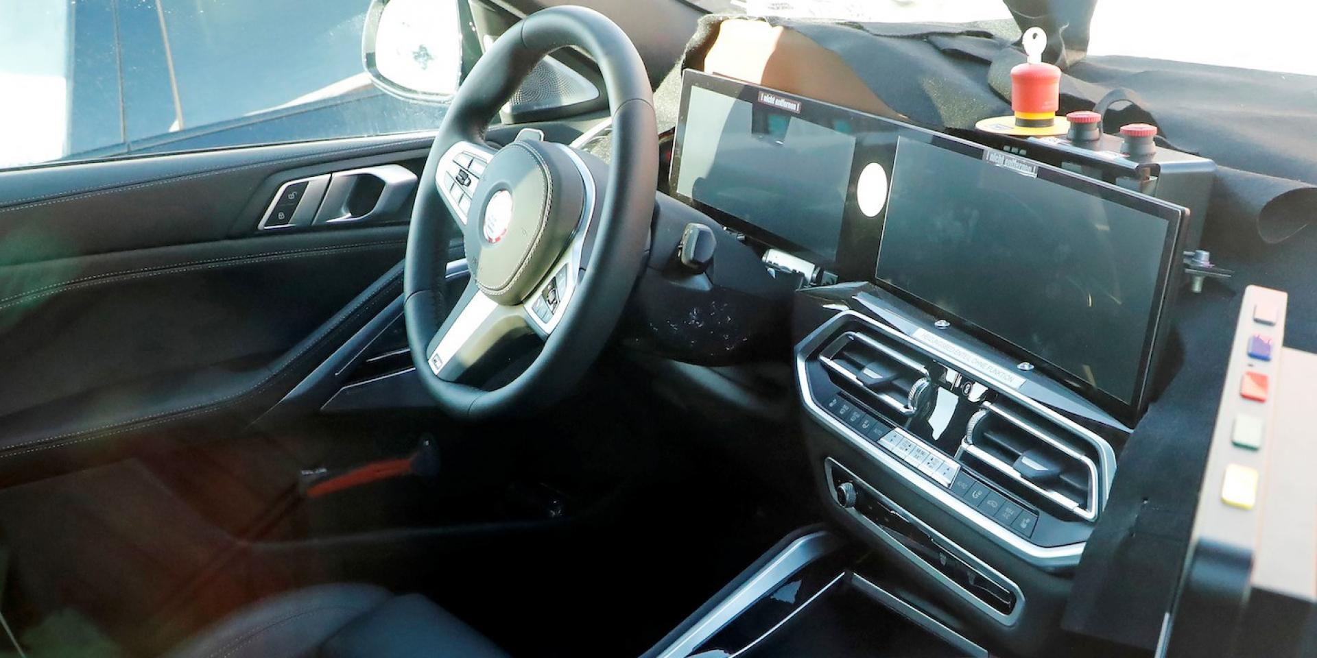好眼熟的雙螢幕?!BMW小改款X6內裝搶先曝光!