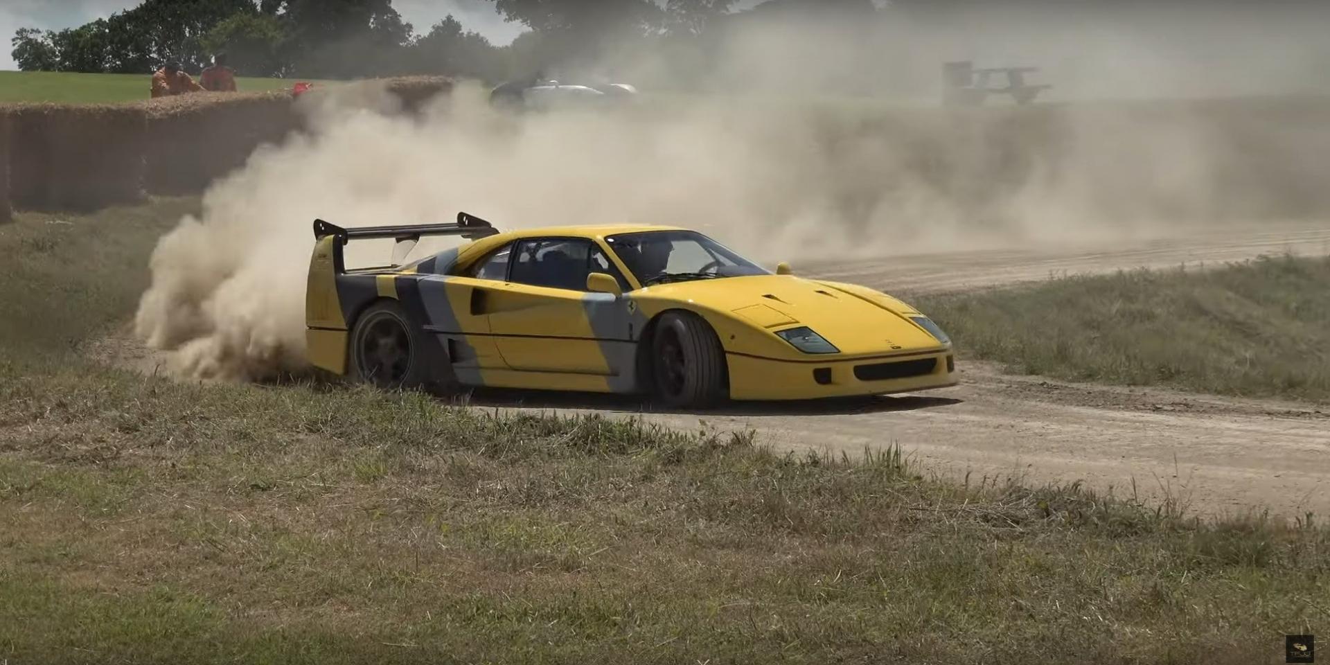車就是要拿來開的!150萬美金的Ferrari F40拿來越野也只是剛好!