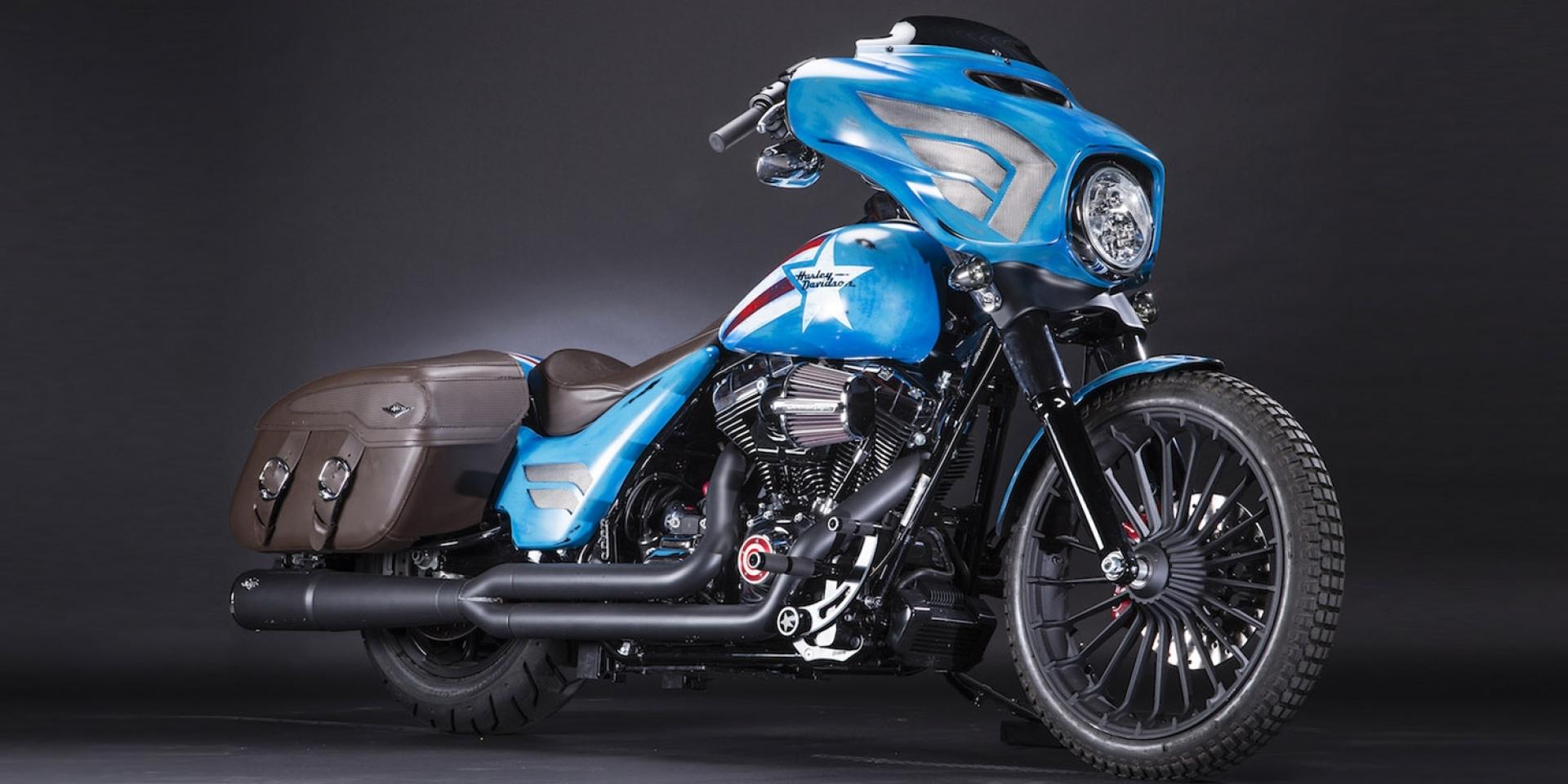 Harley Davidson X Marvel聯名 超級英雄手工車