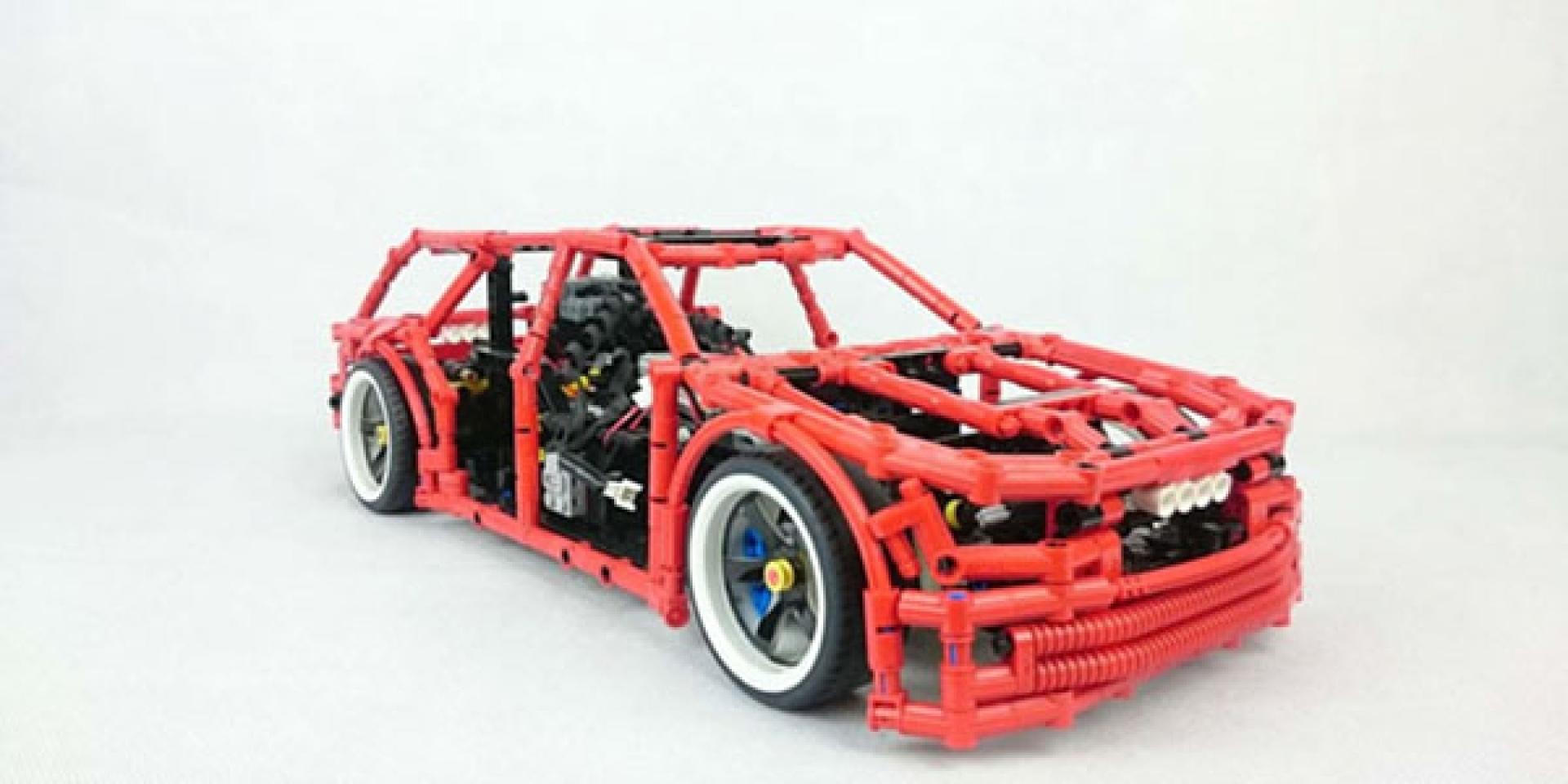 開車甩尾不稀奇,LEGO飄移才過癮!自製手煞車裝置樂高模型車