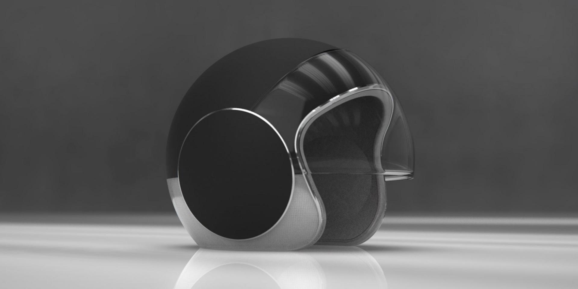 頭頂發出一道光!預防追撞的LED安全帽