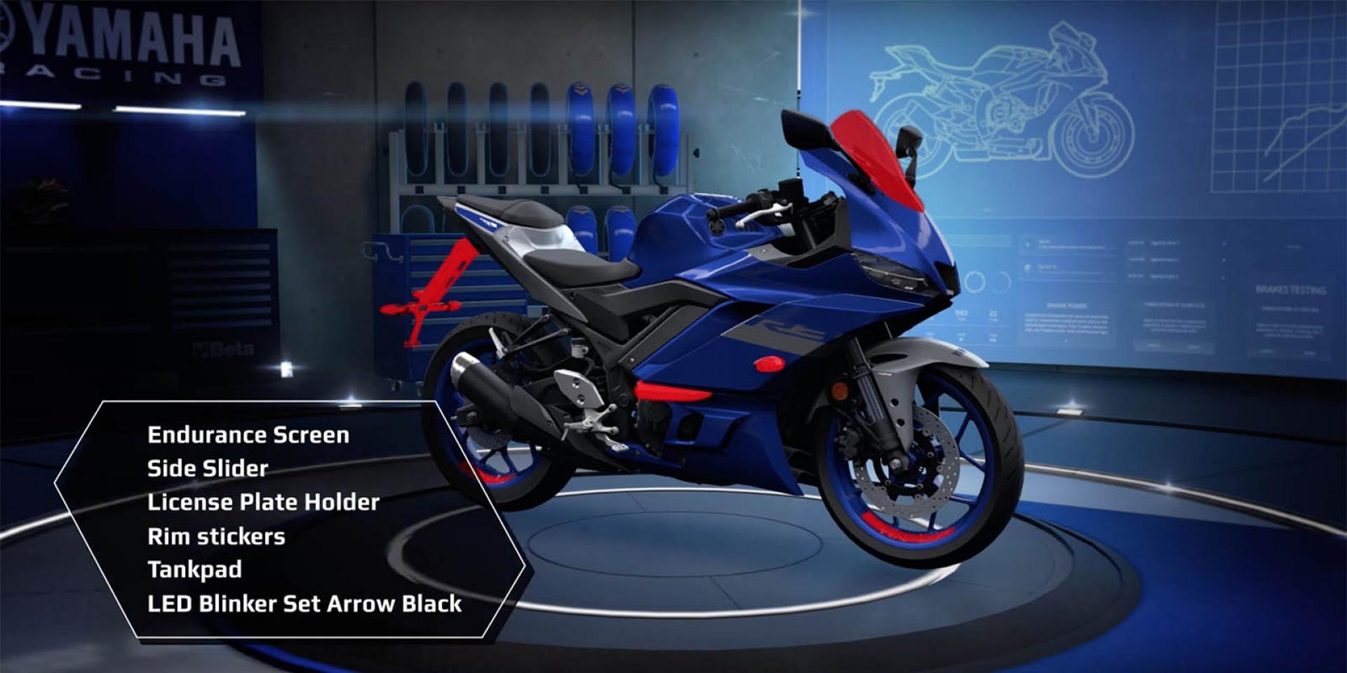 YAMAHA R3歐洲推出Sport Pack,台灣山葉選配件似乎更超值!