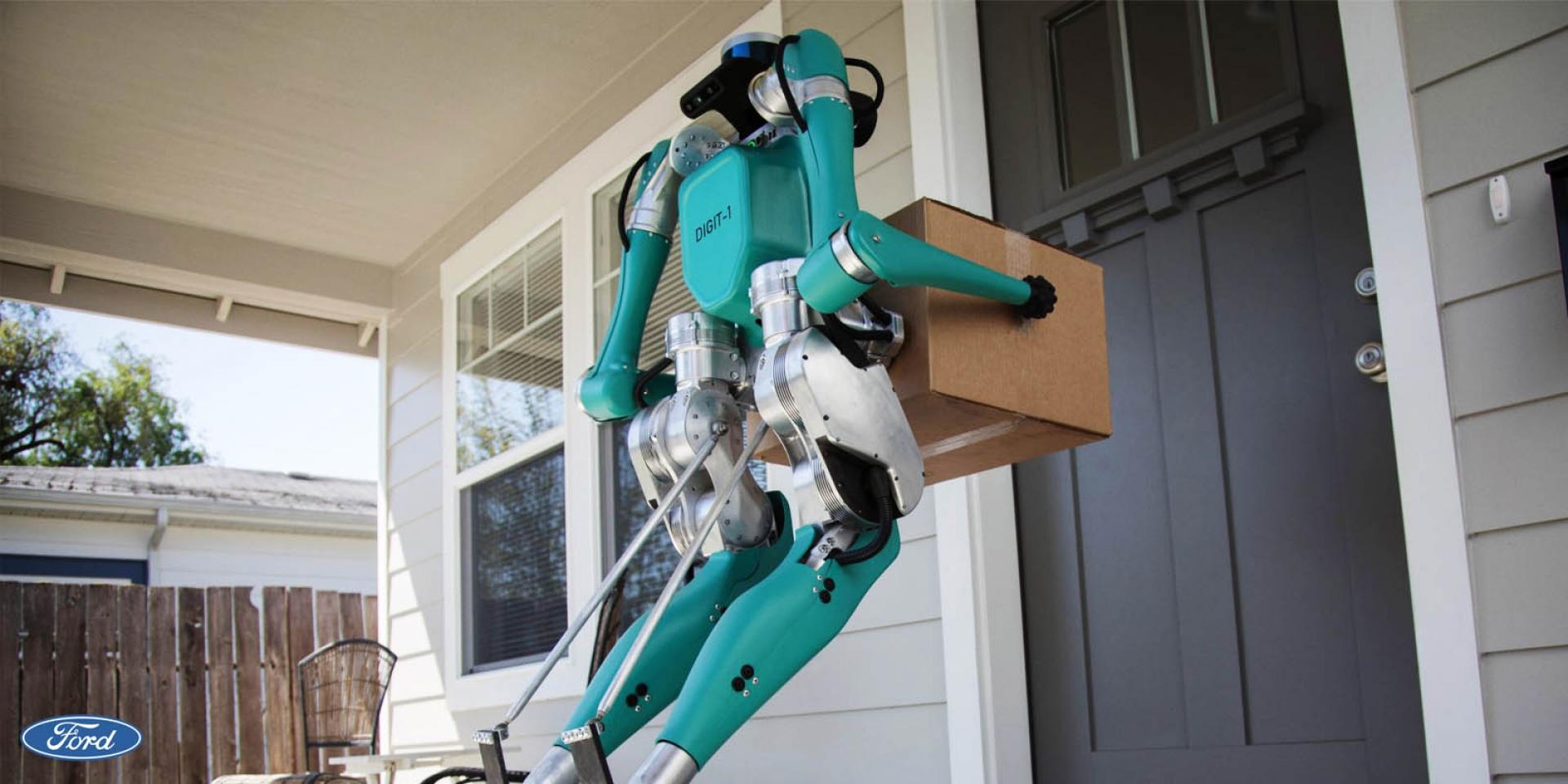 當快遞不再是人類?!FORD與Agility合作推出送貨機器人概念品