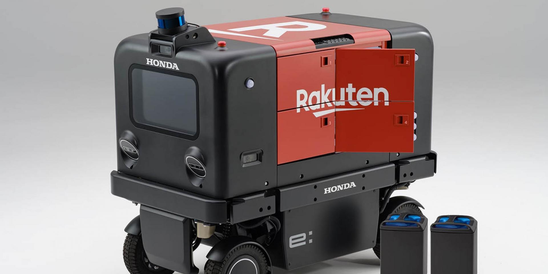 """""""換電""""機器人登場!HONDA與樂天合作實驗送貨機器人"""