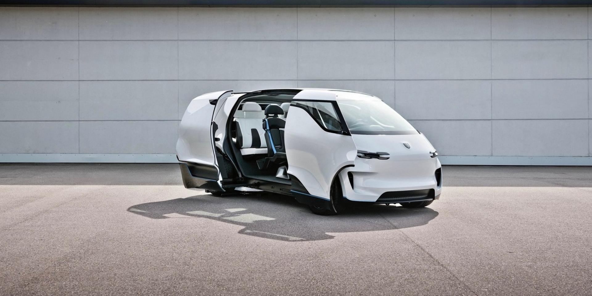 駕駛置中的廂型車,Porsche概念車完美呈現