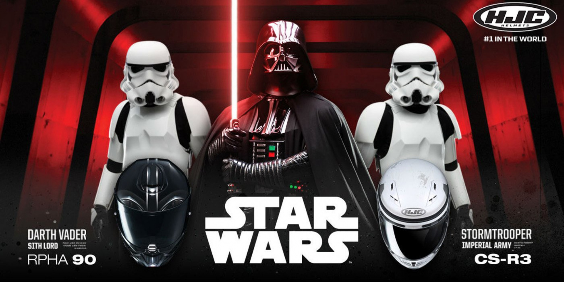 HJC邀你加入帝國軍!推出Darth Vader和Stormtrooper安全帽