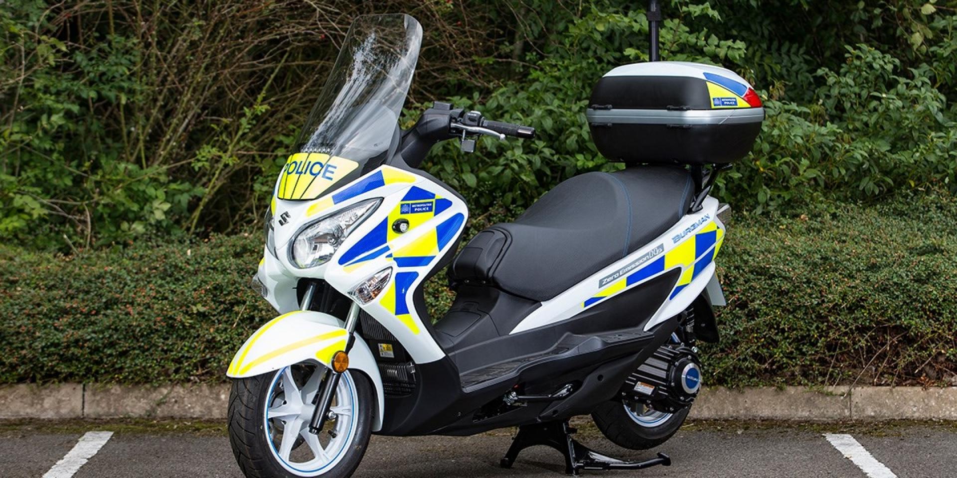 警察跟上節能潮流,倫敦警方採用Suzuki氫燃料電動機車