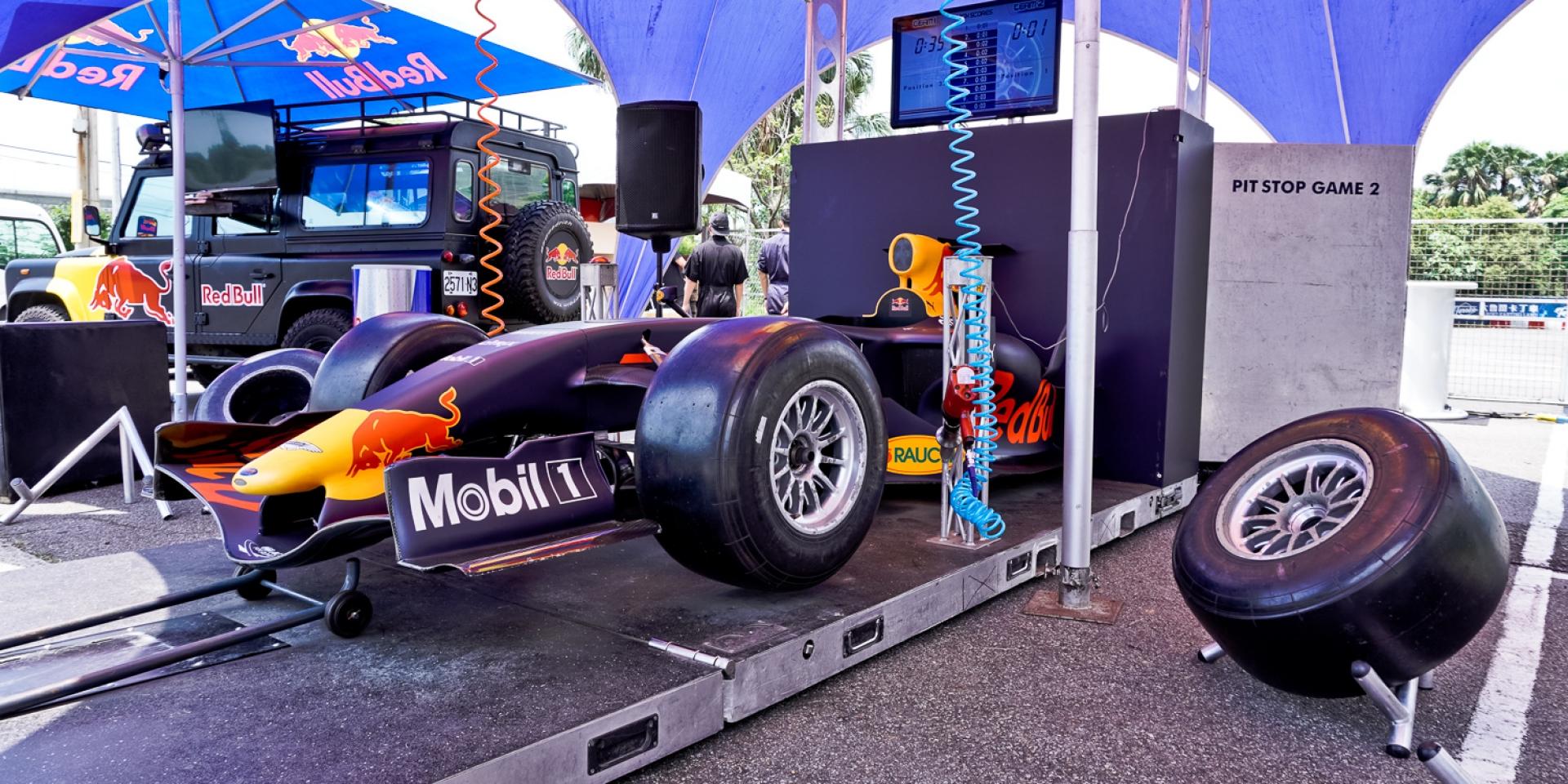 實際體驗F1換胎!Red Bull邀你一起來挑戰!